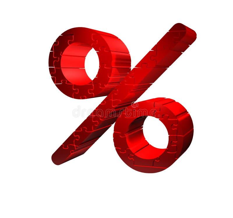 procentpusseltecken stock illustrationer