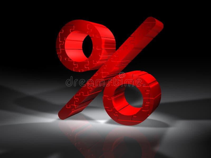 procentu łamigłówki znak ilustracji