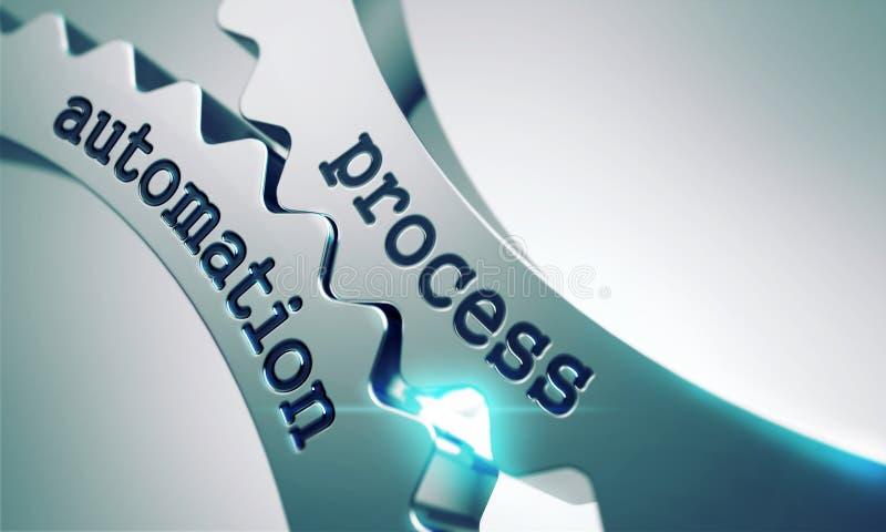 Proces automatyzacja na przekładniach ilustracja wektor