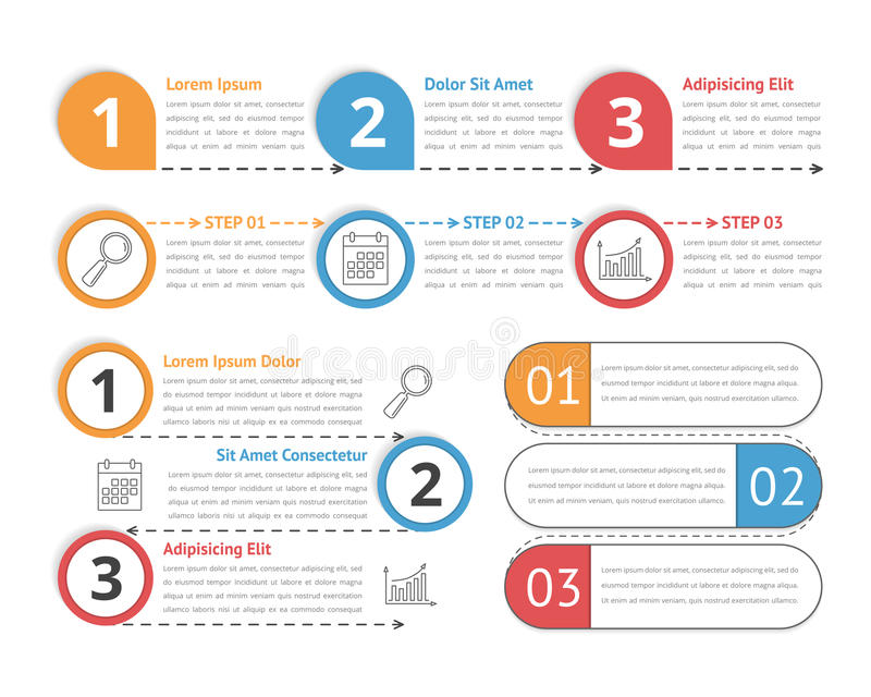Proces Infographics vector illustratie