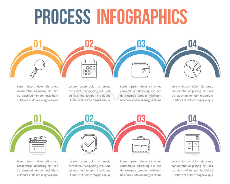 Proces Infographics royalty-vrije illustratie
