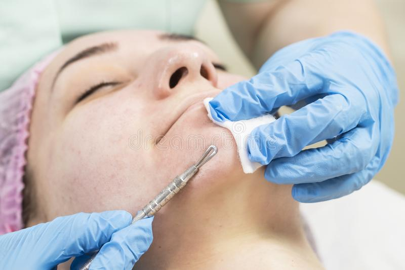 Proces kosmetyk maska masaż i facials obrazy royalty free