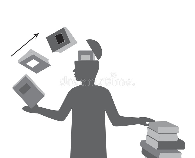 Proces of learning. Process of learning, abstract vector illustration stock illustration