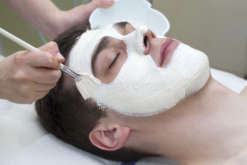Proces masaż i facials zdjęcie stock