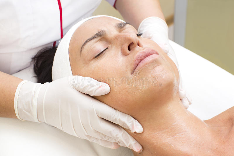 Proces masaż i facials obraz royalty free