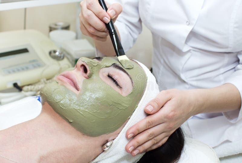 Proces masaż i facials zdjęcie royalty free