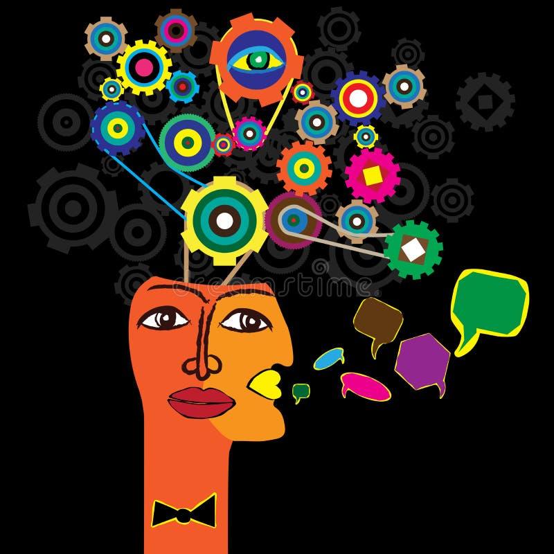 proces myśl royalty ilustracja