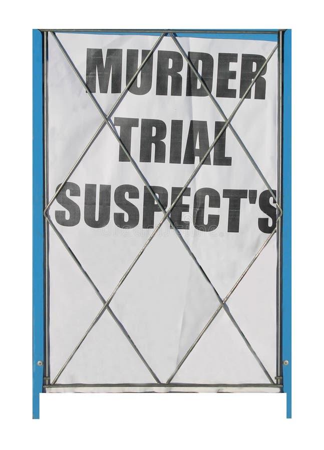 Proces o zabójstwo podejrzany zdjęcie royalty free