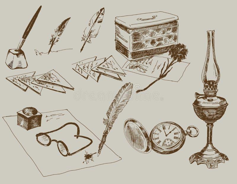 Download Proces Om Brieven Aan De Militairen Te Schrijven Vector Illustratie - Illustratie bestaande uit voorwerp, achtergrond: 29506842