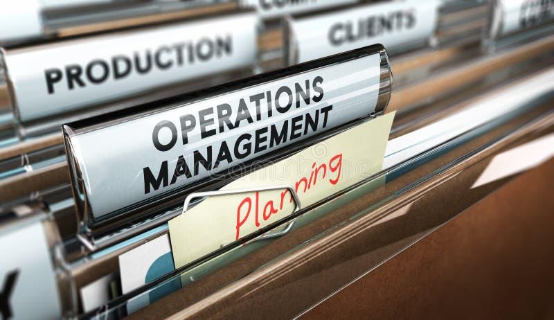 Proces Produkcji organizacja, operaci zarządzanie royalty ilustracja