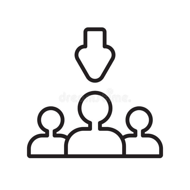 Proces selekcji ikony wektor odizolowywający na białym tle, procesu selekcji znak ilustracja wektor
