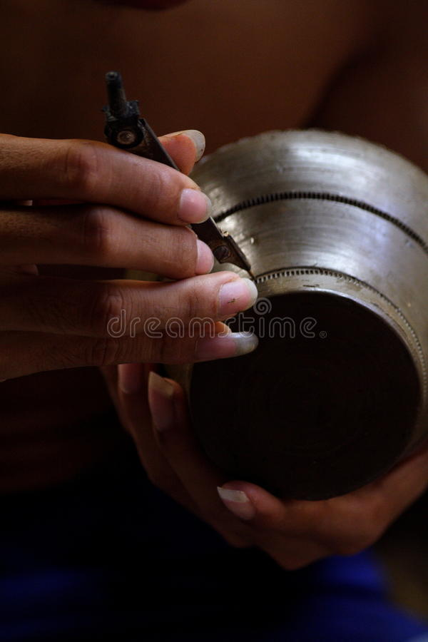 Proces Tajlandzki handcraft obraz stock