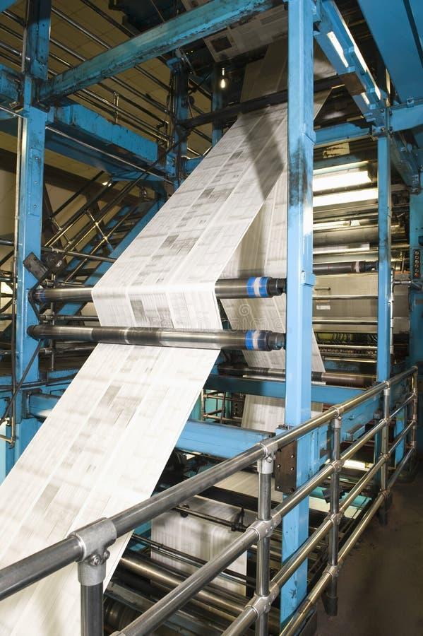 Proces van Krantenproductie royalty-vrije stock fotografie