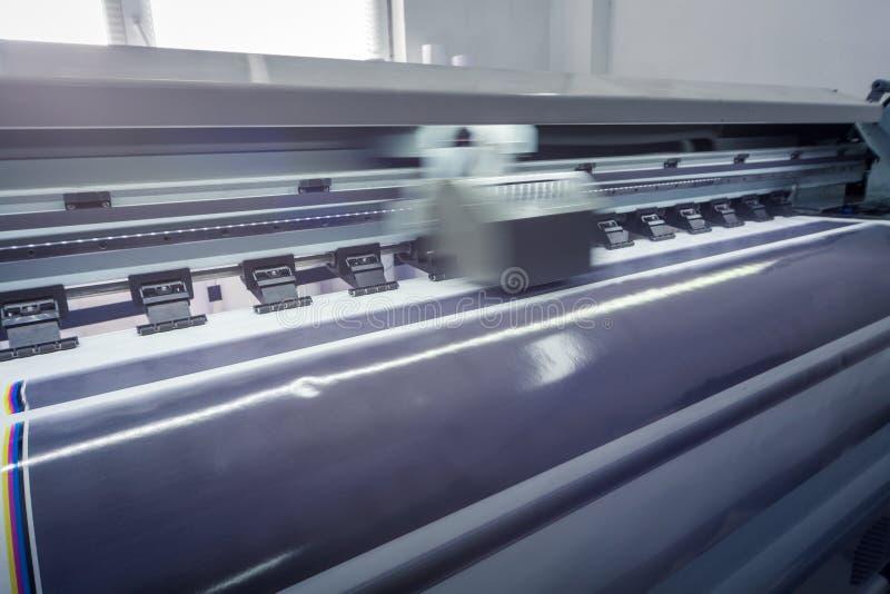 Proces w nowożytnym drukowym domu ruch fotografia stock