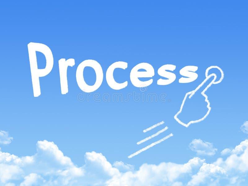 Proces wiadomości chmury kształt ilustracja wektor