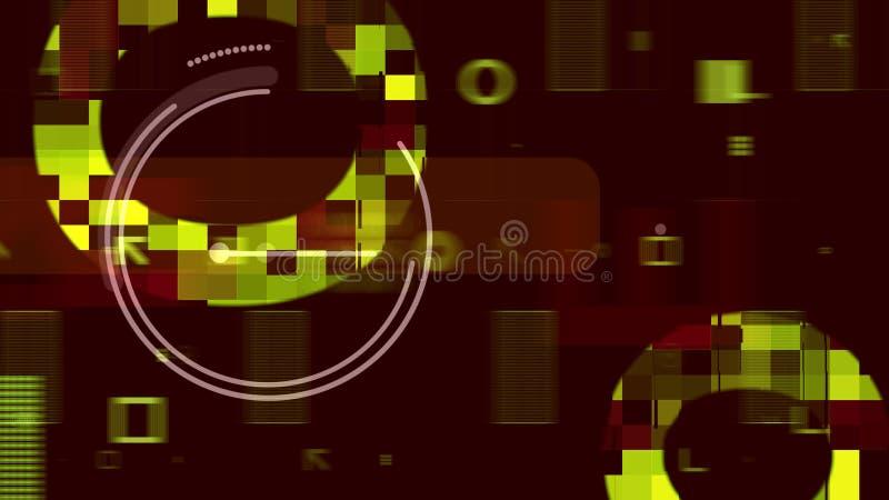 Procesador con las plantillas en el contexto de Brown ilustración del vector