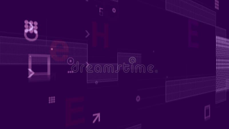 Procesador con rejillas de la placa en Violet Backdrop stock de ilustración