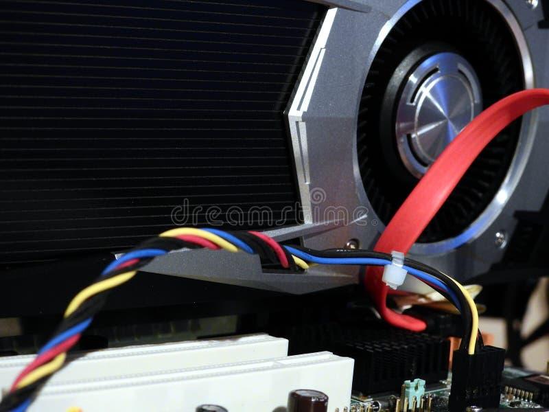 Procesador de gráficos en la placa madre fotos de archivo libres de regalías