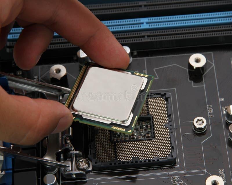 Procesador del ordenador fotografía de archivo