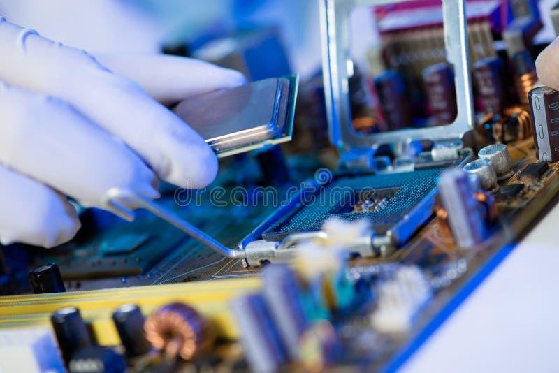 Procesador del ordenador fotos de archivo