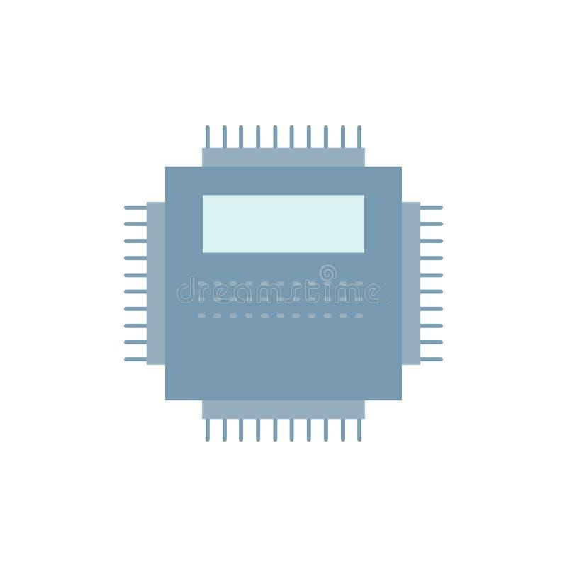 Procesador, hardware, ordenador, PC, vector plano del icono del color de la tecnología ilustración del vector