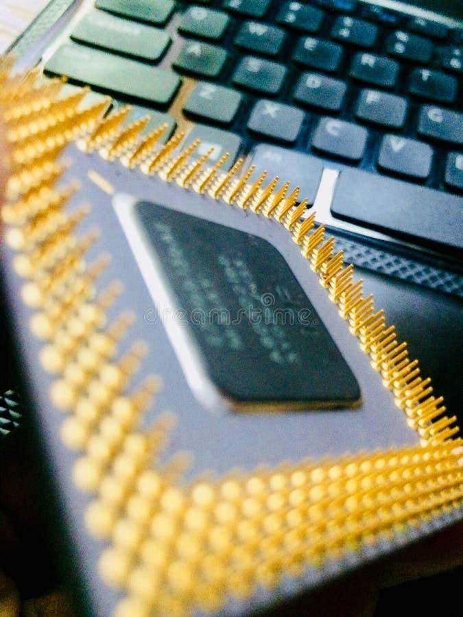 Procesador Intel Pentium del ordenador fotos de archivo libres de regalías