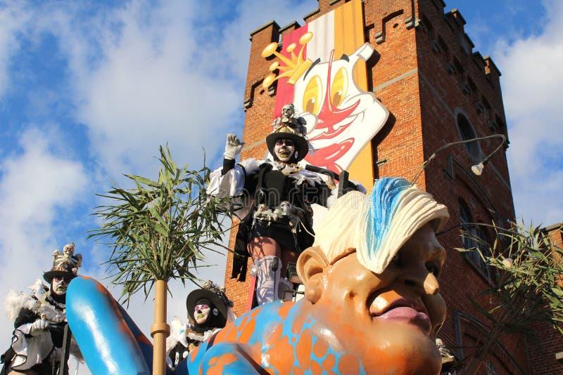 Procesión Aalst, Bélgica del carnaval imágenes de archivo libres de regalías