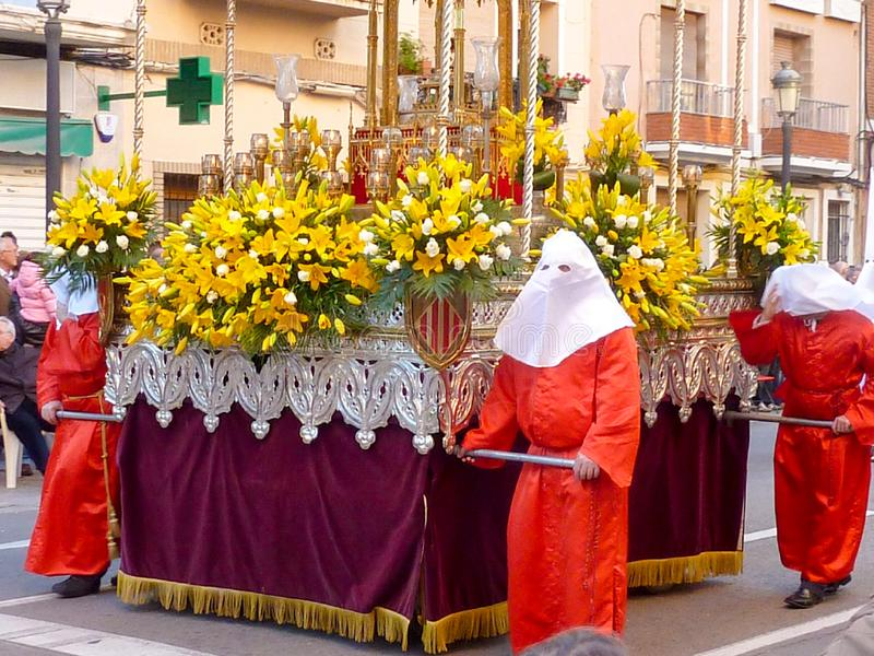 Procesión de la gloria durante el domingo de la resurrección, celebrando la Pascua foto de archivo libre de regalías