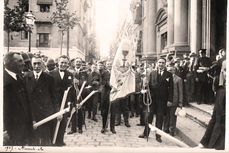 Procesión de la semana santa. 1927 fotos de archivo