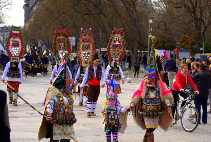 Procesión del carnaval de Varna, Bulgaria fotografía de archivo libre de regalías