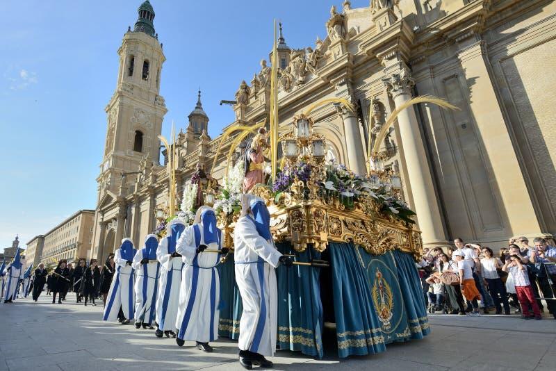 Procesión del Viernes Santo, España foto de archivo