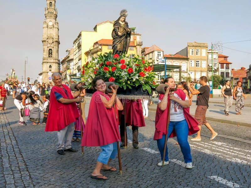 Procesión en Oporto imágenes de archivo libres de regalías