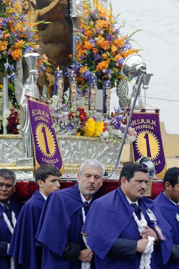 Procesión, Lima, Perú imagen de archivo