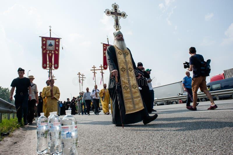 Procesión para la paz cerca de Kyiv imágenes de archivo libres de regalías
