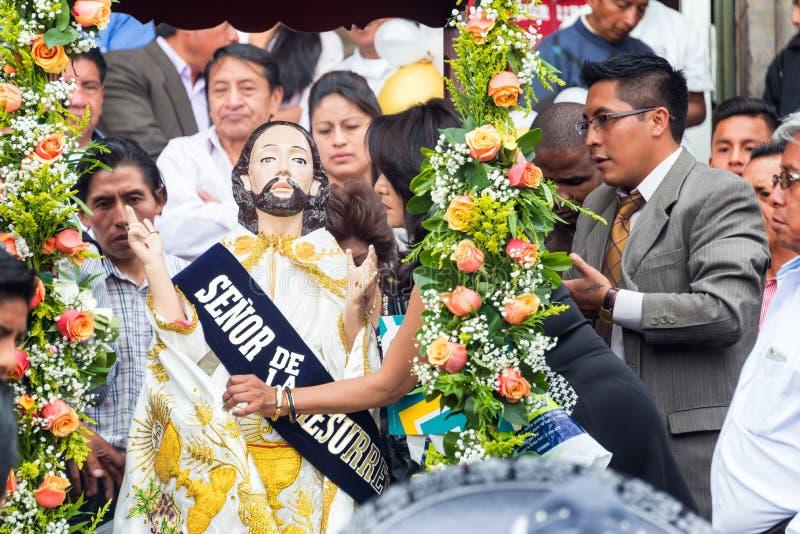 Procesión religiosa de Quito, Ecuador fotografía de archivo libre de regalías