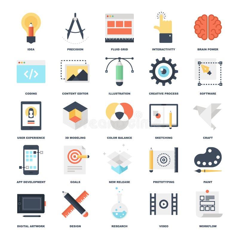 Proceso creativo ilustración del vector