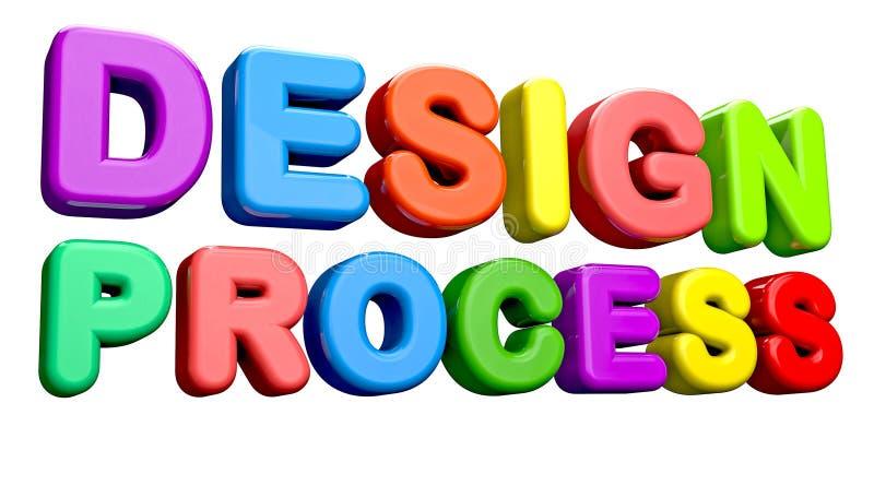 Proceso de diseño stock de ilustración