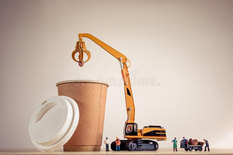 Proceso de fabricación del café Foto macra imagenes de archivo