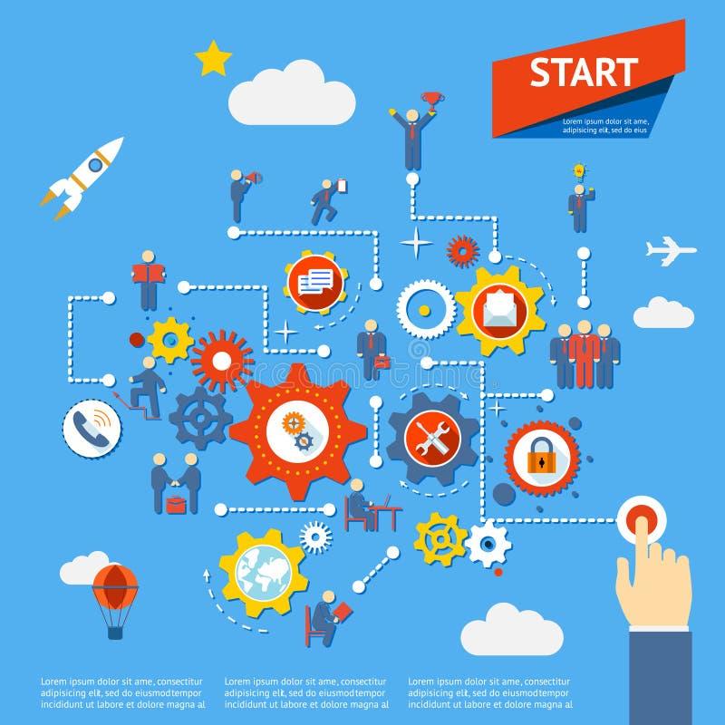 Proceso de negocio ilustración del vector