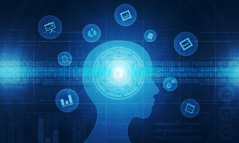 Proceso de negocio abstracto de la tecnología stock de ilustración