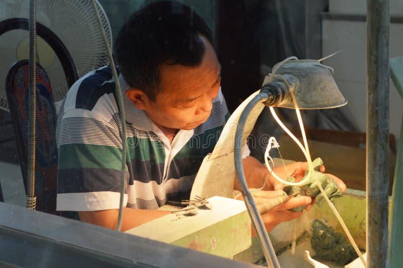 Proceso del jade fotos de archivo