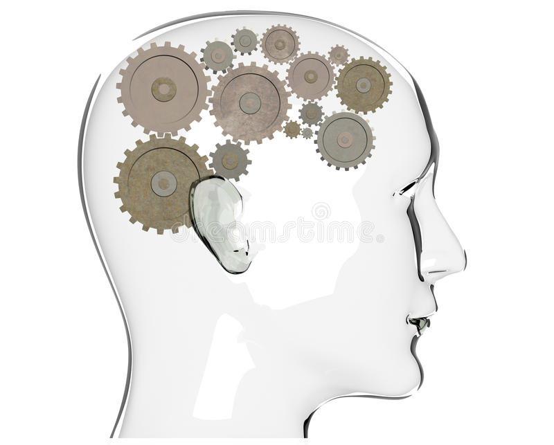 Proceso del pensamiento stock de ilustración