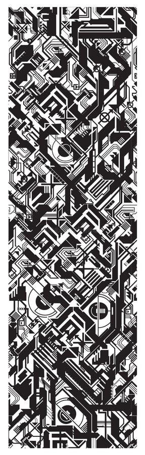 Proceso futurista de la textura inconsútil de la producción ilustración del vector