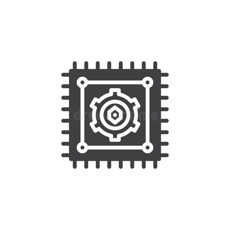 Procesoru wektoru ikona royalty ilustracja