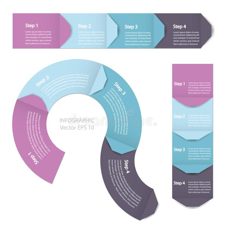Process chart module. Infographics. Process chart module. Template for cycling diagram, graph, presentation and chart royalty free illustration