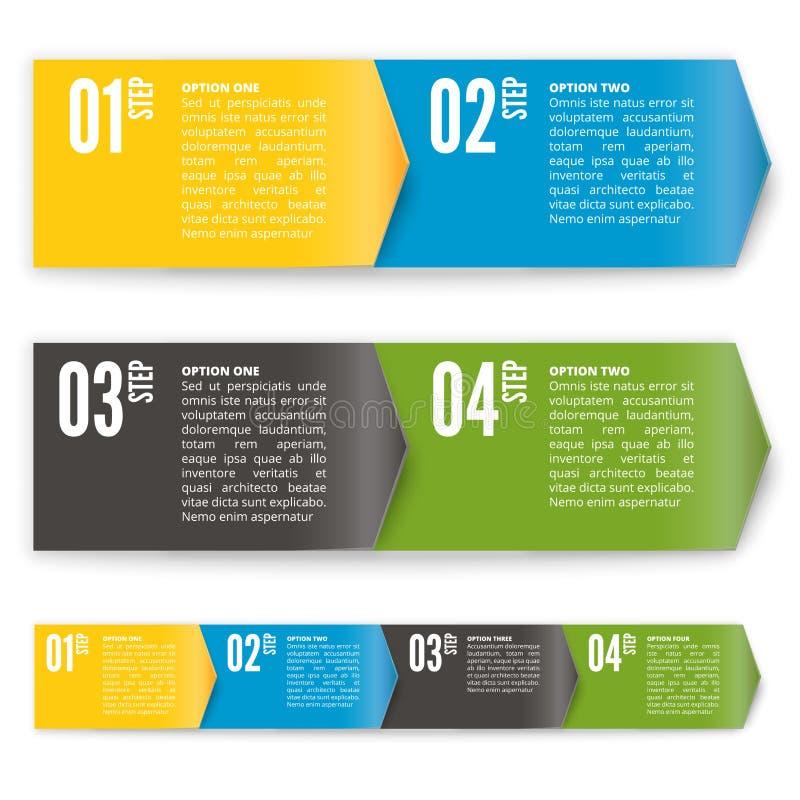 Process chart module. Vector illustration. Process chart or direction arrow banner module. Vector illustration royalty free illustration