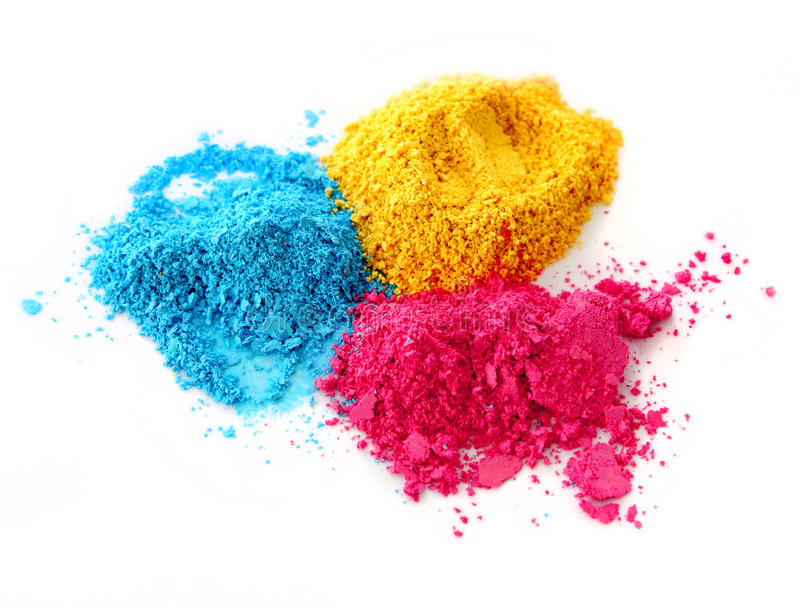 Process color chalk powder stock image