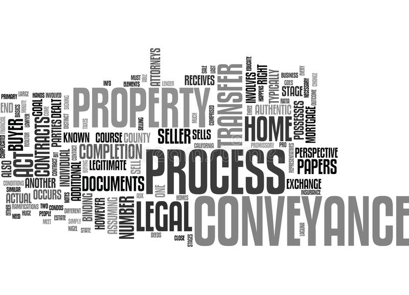 The Process Of Conveyance Text Background Word Cloud Concept stock illustration