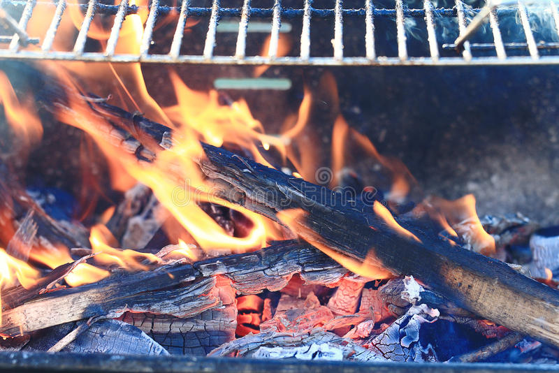 Cooking Fish Over Open Fire Stock Photo Image Of Bass