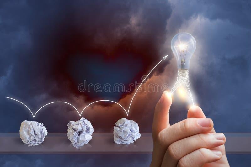 Process emergence of ideas. royalty free stock photo